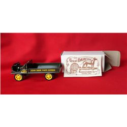 JD Parts Express truck & JD buckboard wagon