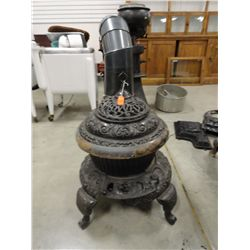 Round Oak potbelly stove 26'' tall