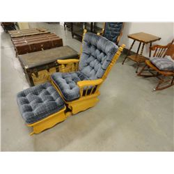Maple glider rocker & matching footstool