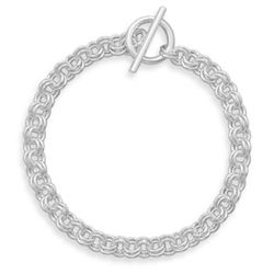 "7.5"" Small Double Link Toggle Bracelet"