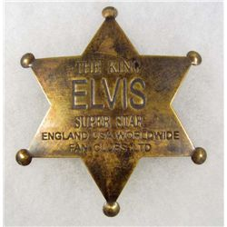 ELVIS PRESLEY THE KING BRASS STAR BADGE