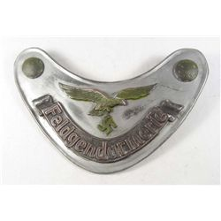 GERMAN NAZI LUFTWAFFE FELDGENDARMERIE GORGET