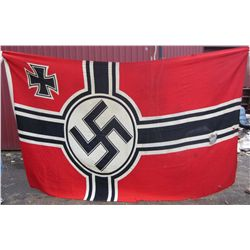 RARE GERMAN NAZI LARGE NAVAL BATTLE SHIP OR DESTROYER BATTLE FLAG