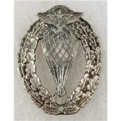 GERMAN NAZI NSKK BALLOON PILOT BADGE