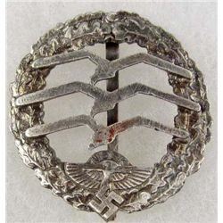 GERMAN NAZI NSKK GILDER PILOT BADGE
