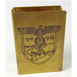 GERMAN NAZI MATCH BOOK COVER MAKER MARKED RZM
