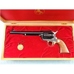 Colt 125 Ann. Single Action Rev. in Wood Case