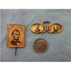 Lincoln & Roosevelt Political Pins