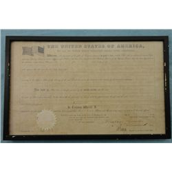 Land Grant Signed by Abraham Lincoln