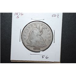 1876-S US Seated Liberty Half Dollar; EST. $35-45