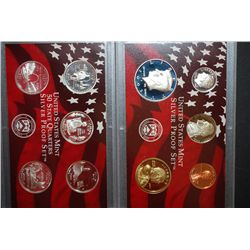 2003-S US Mint Silver Proof Set & US State Quarter Mint Silver Proof Set With COA Included; EST. $45