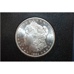 1884-CC US Silver Morgan $1 In Display Box; GSA; UNC; EST. $200-225