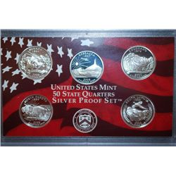 2006-S US Mint State Quarter Silver Proof Set With COA Included; EST. $30-40