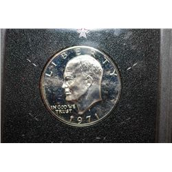 1971-S US Eisenhower $1 Proof In Display Case; EST. $10-20