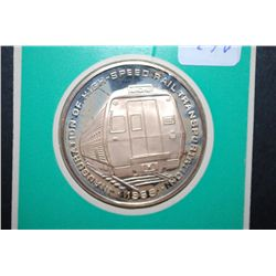 1969 Penn Central The Metroliners Inauguration Of High-Speed Rail Transportation Souvenir Coin-Medal