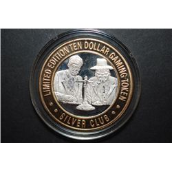 Silver Club Hotel and Casino Sparks NV Limited Edition Two-Tone $10 Gaming Token; .999 Fine Silver;