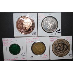 Various State Tokens; Lot of 5; EST. $10-15