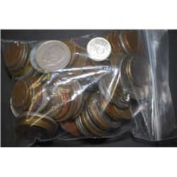 World Coins & Tokens; Various Dates, Conditions & Denominations; Lot of 100; EST. $10-20