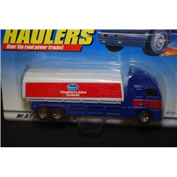 1998 Mattel Hot Wheels Inc. Haulers Over The Road Power Trucks! Ocean Spray Cranberry Juice Cocktail