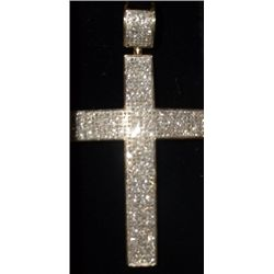 "Cross Pendant Costume jewelry W/ Crystals Parvo set  approx. 3"" x 2"" 09-01555/19253"