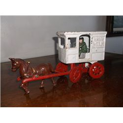 "Cast Iron Horse & Buggy Overall Size is Approx. 11"" long x 6"" Tall"