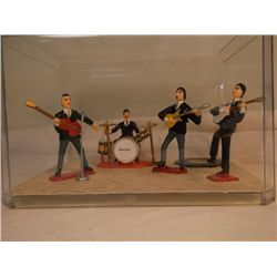 Beatles Display in Case Display Box from early 1960'S