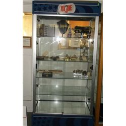 Lighted GI Joe Glass Display Original GI Joe Display Cabinet 35  wide x 19  Deep x 76  Tall with 4 g