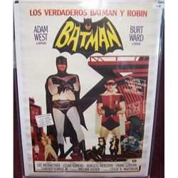 "RARE ADAM WEST ""BATMAN"" SPANISH POSTER ON CANVAS"