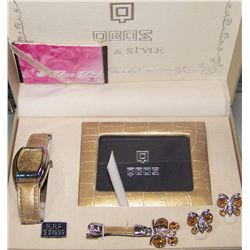 QBOS NEW WATCH & EARRING SET