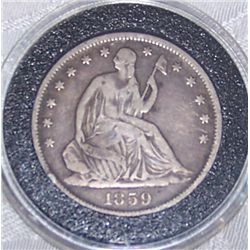 1859-O U.S. Seated Liberty Half Dollar, VF Condition