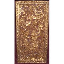 INDONESIAN GILT WOOD CARVING