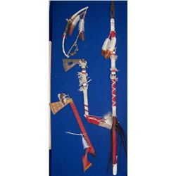 Four Vintage Apache Reservation Decorative Weapons