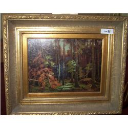 GORGEOUS OIL ON BOARD VINTAGE PAINTING SIGNED COHAN. FRAMED 29T X 35 W