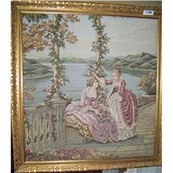 ANTIQUE FRENCH TAPESTRY, FRAMED 40T X 38W
