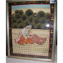 INDIAN EROTIC ARTWORK, COUPLE MAKING LOVE