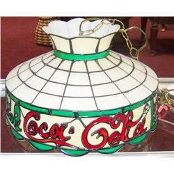 Plastic Stain Glass Tiffany Style COCA COLA Hanging Shade