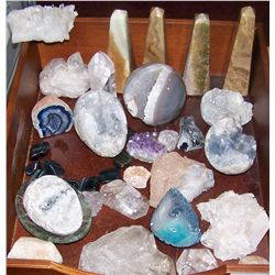 Amazing Rock and Crystal Collection in Wooden Box