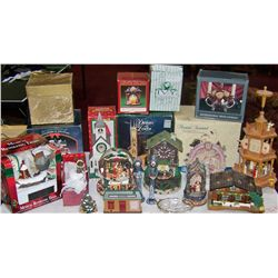 Table Lot of Christmas Themed Collectibles