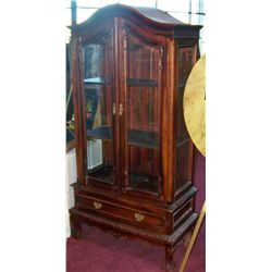 Vintage Wood Display Cabinet