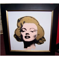 "STEVE KAUFMAN ""MARILYN"" ORIGINAL HAND PAINTED SILK SCREEN ON CANVAS"