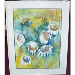 ORIGINAL HAND SIGNED WATERCOLOR BY J. BOLIN, FRAMED