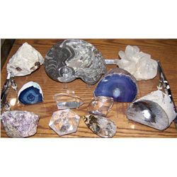 (11) PIECE AMAZING RARE ROCK, & MINERAL COLLECTION AS SHOWN