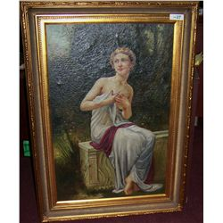 Vintage/ Antique Oil on Canvas GERMAN SCHOOL