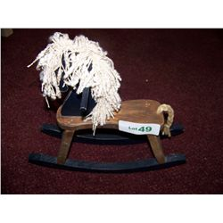 Vintage Miniature Wood Rocking Horse