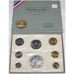1972 FRENCH PROOF SILVER SET w/ C.O.A. & BOX