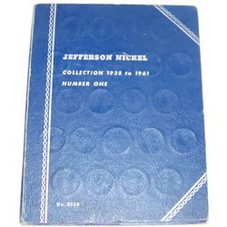 JEFFERSON NICKEL BOOK 1938-1961 INCLUDING ALL SILVER WAR NICKELS