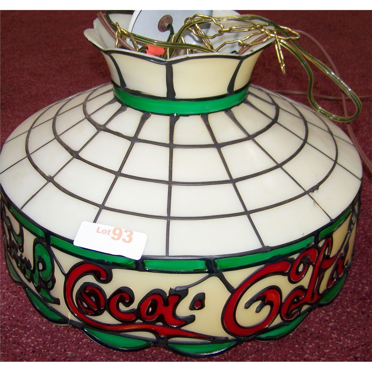 COCA-COLA TIFFANY STYLE PLASTIC LAMP SHADE