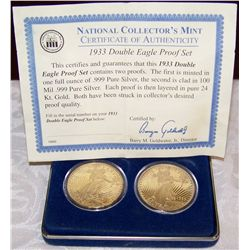 National Collector's Mint One Oz. .999 Silver Layered in 24K Gold and...