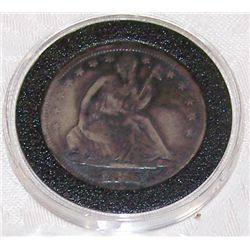 1876-S RARE U.S. SEATED HALF DOLLAR, VF-XF CONDITION