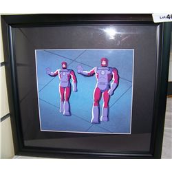 "RARE ORIGINAL ""X-MEN"" HAND PAINTED PRODUCTION CARTOON CEL FROM HANNA BARBARA, CUSTOM FRAMED"